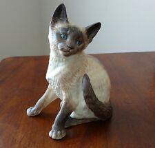 "Classic Cat Munro of Thailand 1995 MC 30090 brown Siamese figurine 7 3/4""  tall"