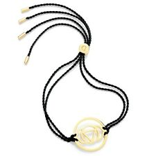 Daisy Jewellery NEW! Black Cord Gold Plated Brow Chakra Adjustable Bracelet