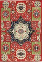 NEW Geometric Medallion Kazak Pakistan Oriental Area Rug Hand-made Carpet 6 x 9