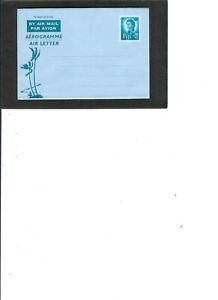 """FIJI PRE STAMPED AEROGRAMME UNUSED """"Queen"""" 5c value Folded Palm Trees"""