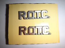 Lot Of 2 US Army ROTC Metal Badges With Clutchback Catches