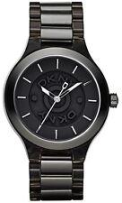 New DKNY Black Two Tone Acrylic Steel Band Women Dress Watch 45mm NY8169 $135