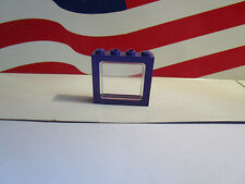 LEGO HARRY POTTER (1) PURPLE WINDOW & GLASS FOR KNIGHT BUS SET 4755 PART #6556