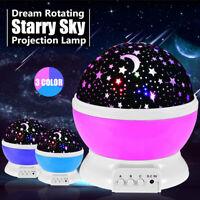 Romantic LED Starry Sky Star Projector Lamp Galaxy Cosmos Night Lights