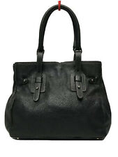 FURLA Black Pebbled Leather Tote Shoulder/Hand Bag Made in Itally