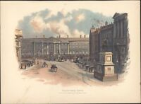 1885 Original Antique Lithograph a/ W Lawrence View of Dublin Green Ireland