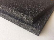 "2 pack 1"" x 18"" x 18"" Black Polyethylene foam 1.7pcf *FREE SHIPPING"