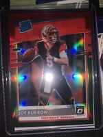 2020 Donruss Joe Burrow Rated Rookie Red and Green Optic Prizm NO. P-301🔥🔥