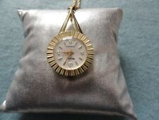 Swiss Made Webster Vintage Wind Up Mechanical Necklace Pendant Watch