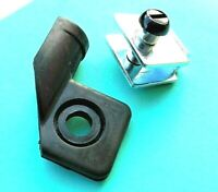 HONDA CB250N CB400N - NEW REAR INDICATOR MOUNTING BRACKET FITTINGS & RUBBER x 1