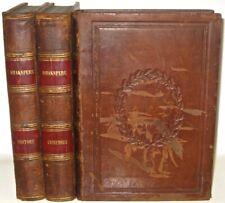 LEATHER Set;Works of WILLIAM SHAKESPEARE!near FOLIO (MASSIVE BOOKS!) 1860! RARE!