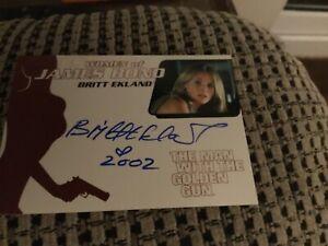 Women of Bond Britt Ekland signed trading card Rittenhouse 2003 mint