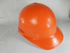 Vintage Jackson Orange Hard Hat Safety Helmet Adjustable Size Wow