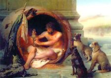 Jean leon Gerome - Diogenes (1860) - 3D Lenticular Postcards  Greeting Card