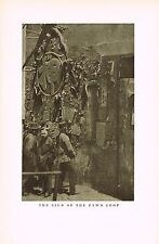1910s Antique Asian Chinese Pawn Shop Sign Genthe Photo Gravure Print