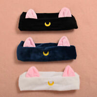 Anime Sailor Moon Ears Pattern Hair Band Plush Elastic Headband Cosplay Props