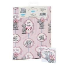 ME TO YOU JUST FOR YOU GIFT WRAP 2 SHEETS & 2 TAGS TATTY TEDDY BEAR NEW GIFT