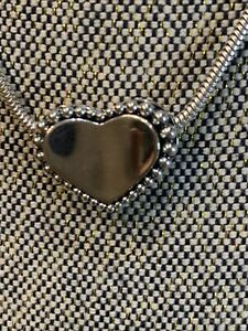 Lagos cavalier Puffy Heart Necklace 18 In 925 SS