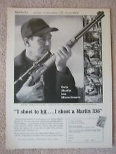 Vintage 1961 Marlin Model 336-C Big Game Deer Hunting Rifles Print Ad