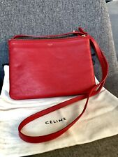 Celine Large Trio Red Crossbody Bag Great Condition