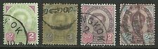 THAILAND Stamps:1887-91 King Chulalongkorn Issues. 2a, 3a, 12a  & 24 a Used.