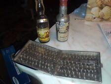 Antique Metal Cigarette Case and 2 Bottles