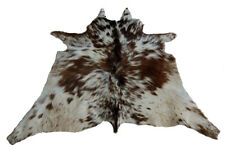 "Cowhide Rugs Calf Hide Cow Skin Rug (33""x37"")  Brown and White CH8062"