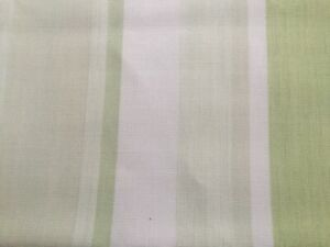 """LAURA ASHLEY AWNING STRIPE col: APPLE 1pr CURTAIN TIE-BACKS Piped 26"""" L NEW"""