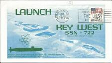 Stati Uniti 1985 LANCIO BATTESIMO USS Key West SSN 722 NEWPORT NAVY COVER