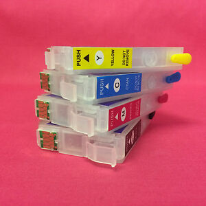 SET REFILLABLE EMPTY INK CARTRIDGES FOR EPSON EXPRESSION HOME XP 247 347 447  29