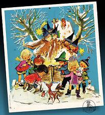 Vecchio Calendario Avvento 60er Inutilizzati Vintage Kindertmotiv