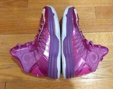 2012 Nike Hyperdunk Think Pink White Purple Kay Yow 524934-601 Sz 5.5 BCA ribbon