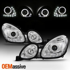 Fits 98-05 Lexus GS300 GS400 GS430 Clear Halo LED DRL Projector Headlights Lamps