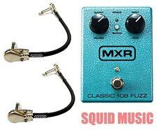 MXR Classic 108 Fuzz M-173 Guitar Effects Pedal M173 ( 2 MXR PATCH CABLES )