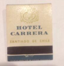 NEW Unstruck Carrera Hilton Hotel Matchbook World Series - Santiago de Chile