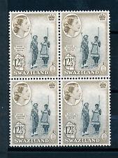 SWAZILAND 1961 DEFINITIVES SG85 12½c BLOCK OF 4 MNH