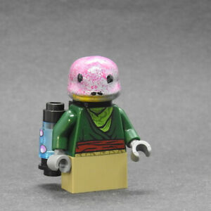 Custom Star Wars minifigures Frog lady mandalorian on lego brand bricks