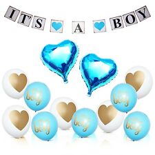 Baby Shower Decorations It's Boy Decor Blue Foil Balloons Banner Party Supplies