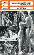 Fiche Cinéma. Movie Card. Tarzan l'homme singe/Tarzan the ape man (USA) 1932