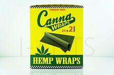 1 Box 25 Pouches(50 wraps) Canna 100% Tobacco Fee GMO-FREE Organic Hemp Wraps