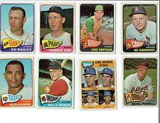 1965 Topps Baseball Set Break(#225-598) SPs/Teams/Stars (Listing 2/2) COMB SHIP!