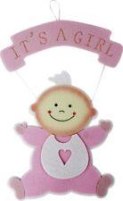 Wandhänger Baby Rosa Anhänger Wanddeko Geburt Taufe MädchenGirl Babyparty/Shower