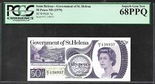 St. Helena - 50 Pence Note (1979)  P5a - PCGS 68PPQ