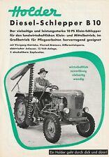 ORIGINAL PROSPEKT HOLDER DIESEL-SCHLEPPER B10 GRUNBACH 1955 OLDTIMER TRAKTOR
