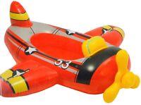 Enfants Rouge Avion Gonflable Bateau Piscine Eau Enfants Ride Sur Flotteur TY575