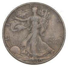 XF+ 1940-S Walking Liberty 90% Silver US Half Dollar - NICE COIN *876