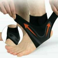 ADJUSTABLE ELASTIC ANKLE SLEEVE Elastic Ankle Brace Guard Foot Support Sports ~