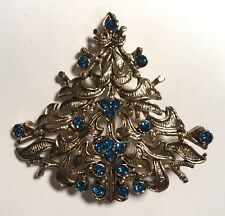 Vintage Signed Eisenberg Ice Christmas Tree Pin