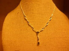 Necklace from Avon (new) BIRTHSTONE - SEPTEMBER (SAPPHIRE)- SILVER SHORT