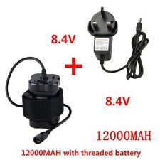 8.4V Rechargeable Waterproof 12000mAh 4X18650 Battery Pack+Charger Fr Bike Light
